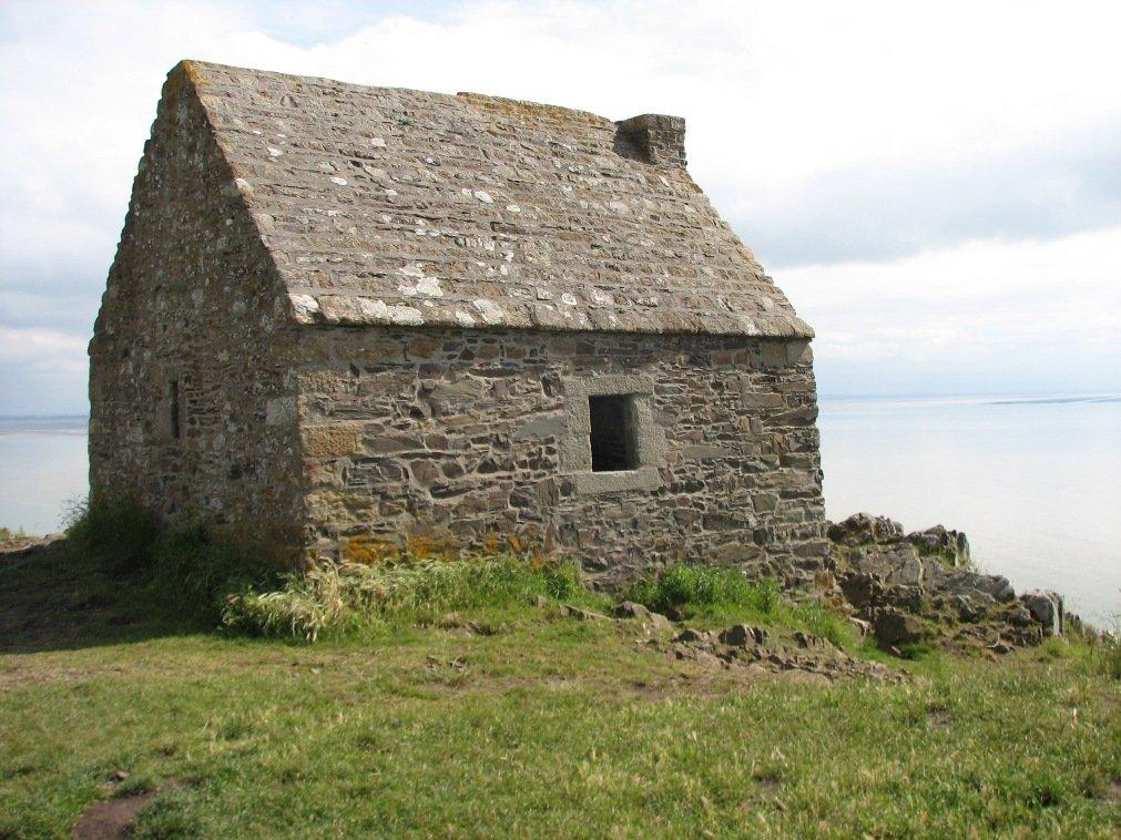 La cabane Vauban. Près de Carolles, dans la baie du mont saint Michel